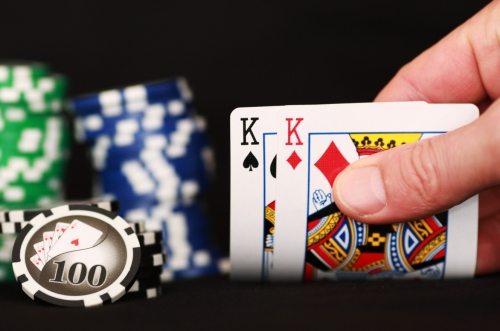 poker playing cards and chips