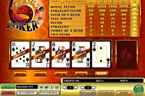video poker casino software
