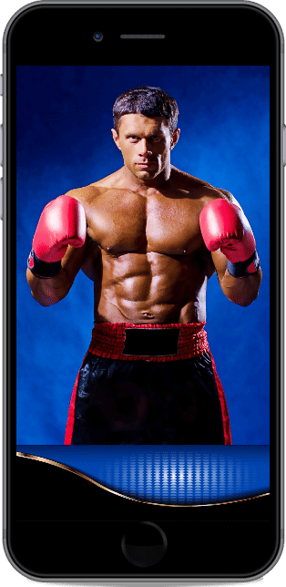 boxer on a smartphone
