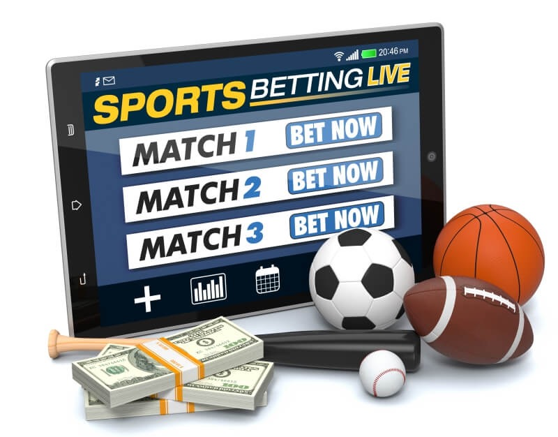 sports betting on a tablet